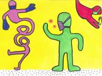 mini Keith Haring Angelina Schmalek